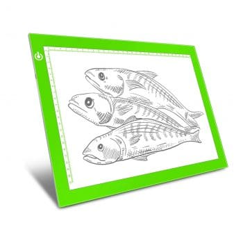 Green A4 Dimmable Light Box