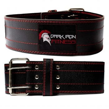 Dark Iron Fitness Leather Pro Weight Lifting Belt