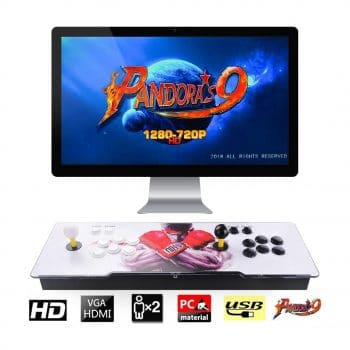 TAPDRA Buttons Arcade Console and Pandora's Box 9 with1500 Classic Video Games (Grey)