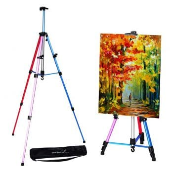 Wit & Work Tripod Display Aluminum Metal Artist Easel Stand