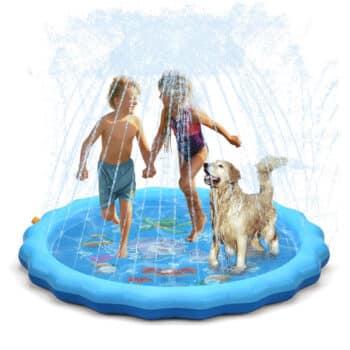 "QPAU Splash Pad, 68"" Sprinkler for Kids"