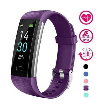 Vabogu Fitness Tracker HR Vibrating Alarm Watch
