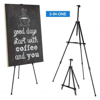 Artify 73 Inches Double Tier Aluminium Tripod Artist Easel Stand