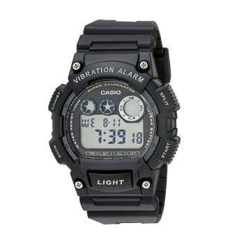 Casio Men's W735H-1AVCF Super Illuminator Vibrating Watch