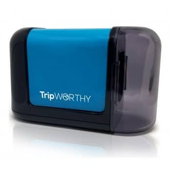 Tripworthy electric pencil sharpener