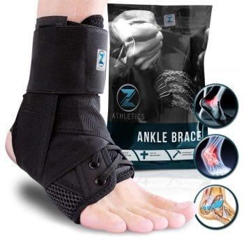 Z Athletics Lace up Adjustable Injury Recovery Ankle Brace