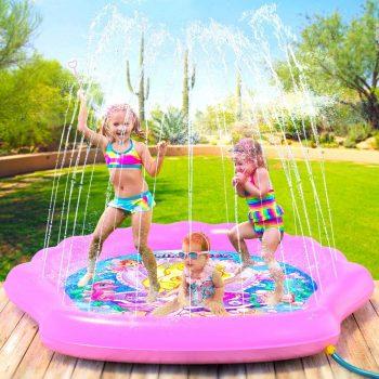 PRINCESSEA Girls XL 70 Mermaid Sprinkler for Kids