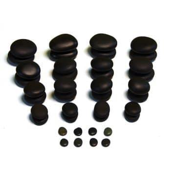 TIR Massage Stone Set - 40 Piece Massage Stones