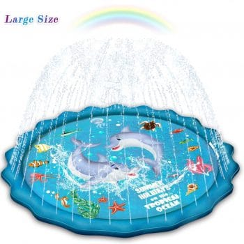 Abida Splash Pad, 65 Outdoor Sprinkler for Kids