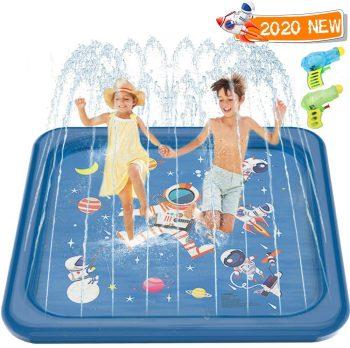 Minto Toy, 68'' Splash Pad Play Mat Outdoor Sprinkler for Kids