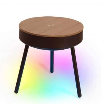 uuffoo Smart End Table with Bluetooth Speaker