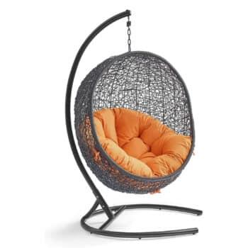 Modway EEI-739-ORA-SET Encase Egg Chair