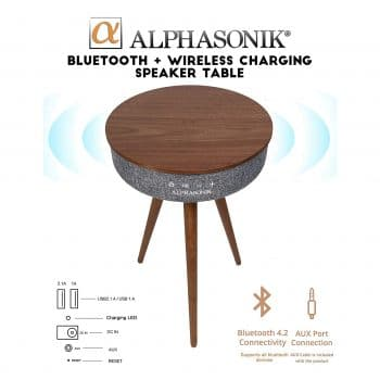 Alphasonik Decor Modern Speaker Table