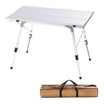 CampLand Aluminum Adjustable Folding Table