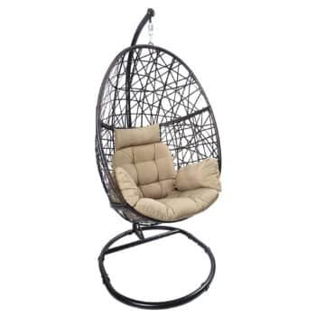 Luckyberry Wicker Tear Drop Egg Chair