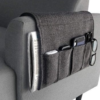 YJLWE Remote Storage Organizer for Recliner Couch
