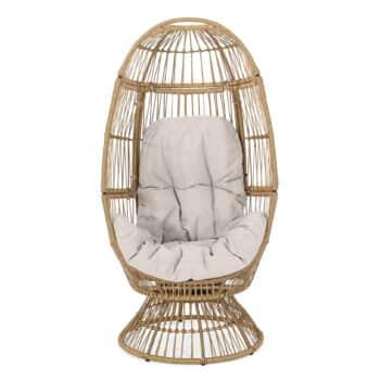 Christopher Knight Home Ellen Wicker Swivel Egg Chair