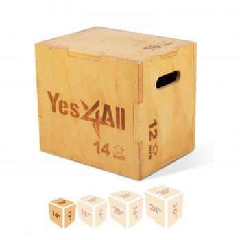 Yes4All Wood Wooden Plyo Box for Exercise