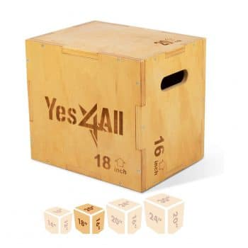 Yes4All Wooden Plyo Box for Exercise