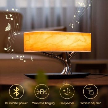 ZEEFO Table Lamp with Built-in Bluetooth Speaker