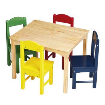 AmazonBasics Kids wood table and chair set
