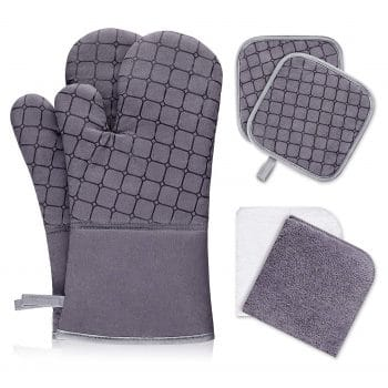 IXO 6Pcs Oven Mitts and Pot Holders