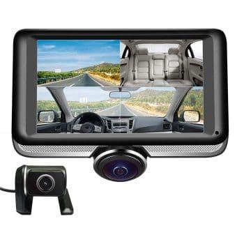 LUU Dash Cam 360˚ Panorama Front Camera and Rear Camera