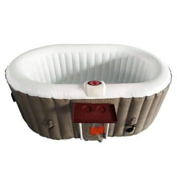 ALEKO Oval Inflatable Hot Tub Spa