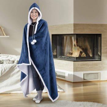 Safdie & Co. Wearable Hooded Blanket