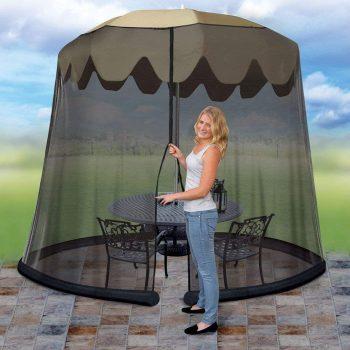 Idea Works JB5678 Outdoor 9-Foot Umbrella Table Screen