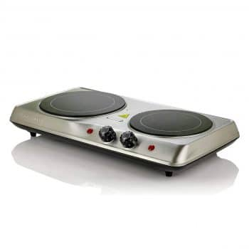 Ovente Electric Glass Double Hot Plate