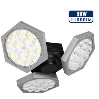 YUNLIGHTS 90W LED Garage Lights with Three Adjustable Panels