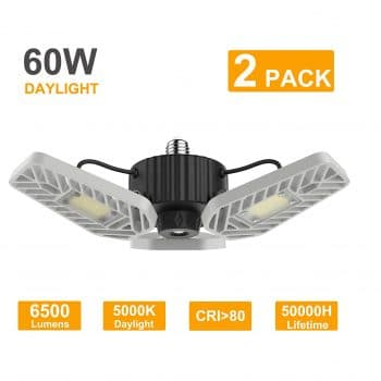 LZHOME LED Garage Lights with Adjustable Panels