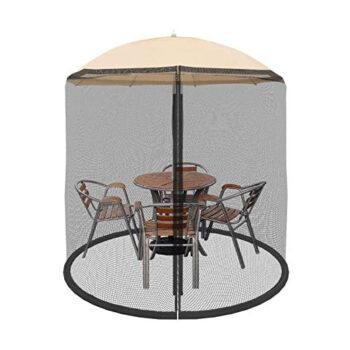 Pure Garden Store Patio Umbrella Cover Mosquito Netting Screen