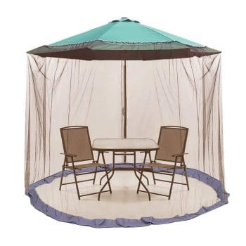 ActionEliters 9-inch Patio Umbrella Outdoor Table Bug Screen Mesh
