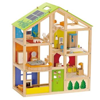 All Seasons Kids Wooden Dollhouse