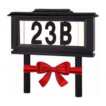Lighted House Numbers Address Sign