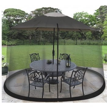 Ocean Tailor HomeRoots 9-inch Patio Umbrella Outdoor Table Bug Screen