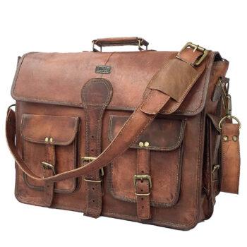 DHK Vintage Handmade Leather Briefcase