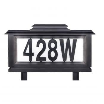 The Black Series Solar-Powered Address Stake