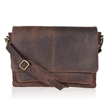 Leather Locking Briefcase for Men
