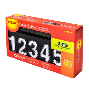 Sundigits 5 Digit Solar House Number