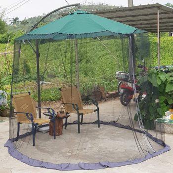 DIHAND 7.5-11ft Patio Umbrella Mosquito Netting