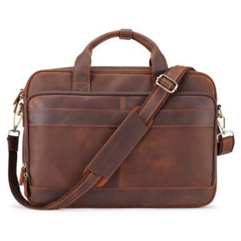 Jack & Chris Men's Leather Briefcase