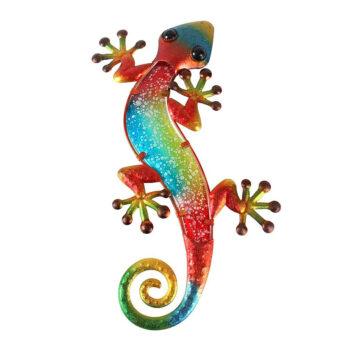 Liffy Metal Gecko Wall Décor Lizard