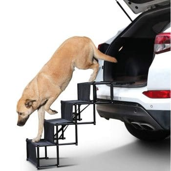 rabbitgoo 4-Step Pet Car Step Stairs