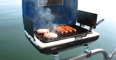 Grill Modified for Pontoon Boats