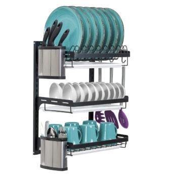 Sorbus 3-Tier Wall Mounted Dish Drying Rack