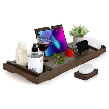 HBlife Bathtub Tray Bamboo Caddy