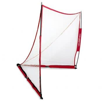 PowerNet 6x6 or 4x4 Portable Lacrosse Goal for Scrimmages or Practice with Carrying Bag